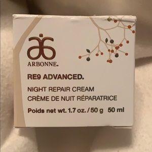 Arbonne new re9 advanced night repair cream